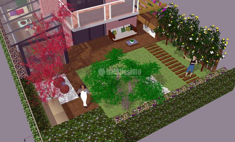 Remodelaci n de un jard n ideas muebles for Jardin 130m2