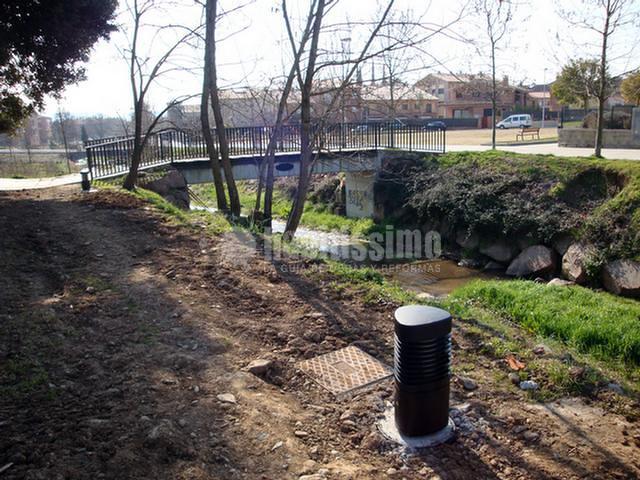 Estudio de inundabilidad de una riera junto a unas obras de urbanización