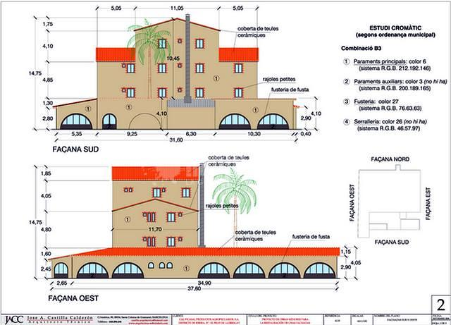 Redacción del proyecto de rehabilitación de fachadas de una masía