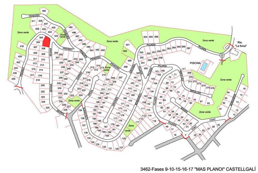 Dirección de las obras de urbanización de Mas Planoi