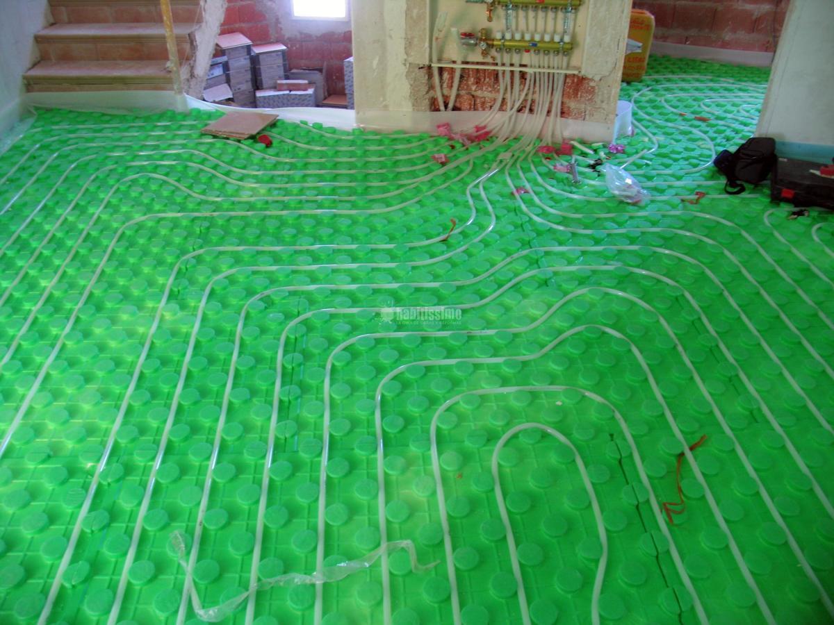 Instalación de suelo radiante en viviendas de alto standing