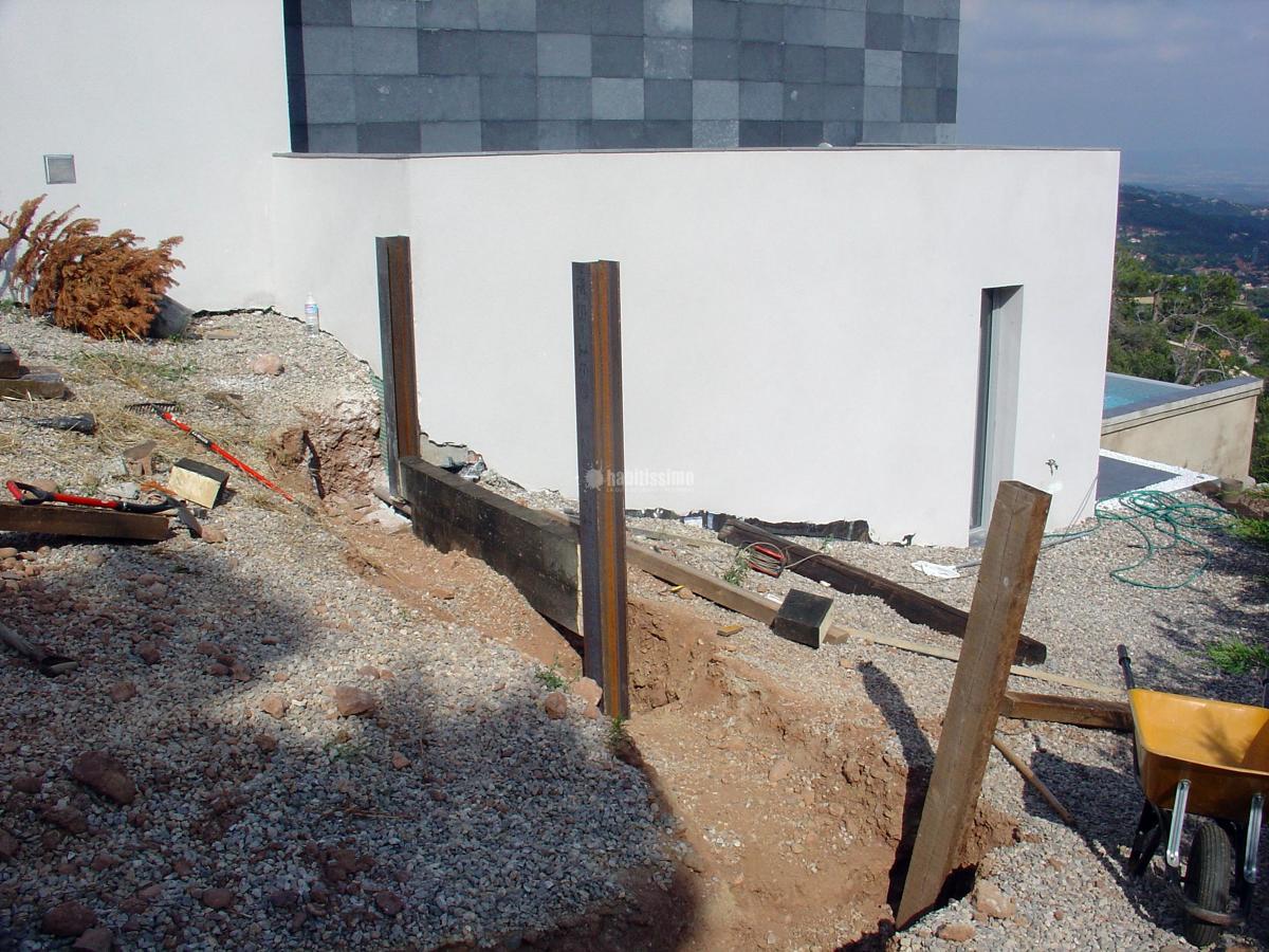 Muro contencion traviesas