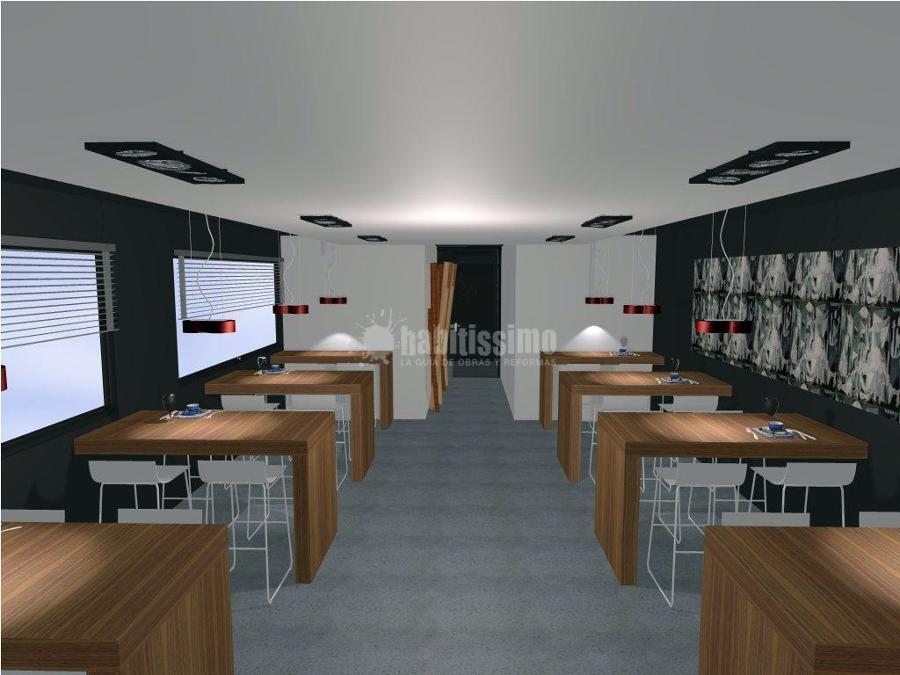 Cocina bancos taburetes y barra de un nuevo restaurante - Taburete barra cocina ...
