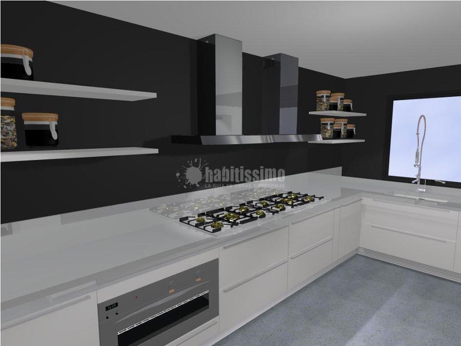 Cocina bancos taburetes y barra de un nuevo restaurante - Taburetes barra cocina ...