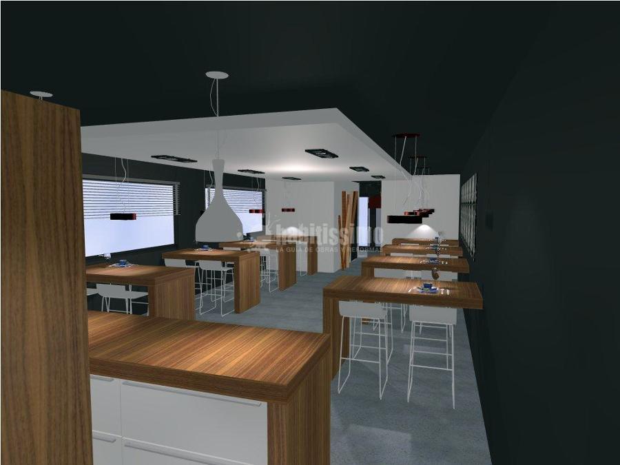 Cocina bancos taburetes y barra de un nuevo restaurante - Bancos y taburetes ...