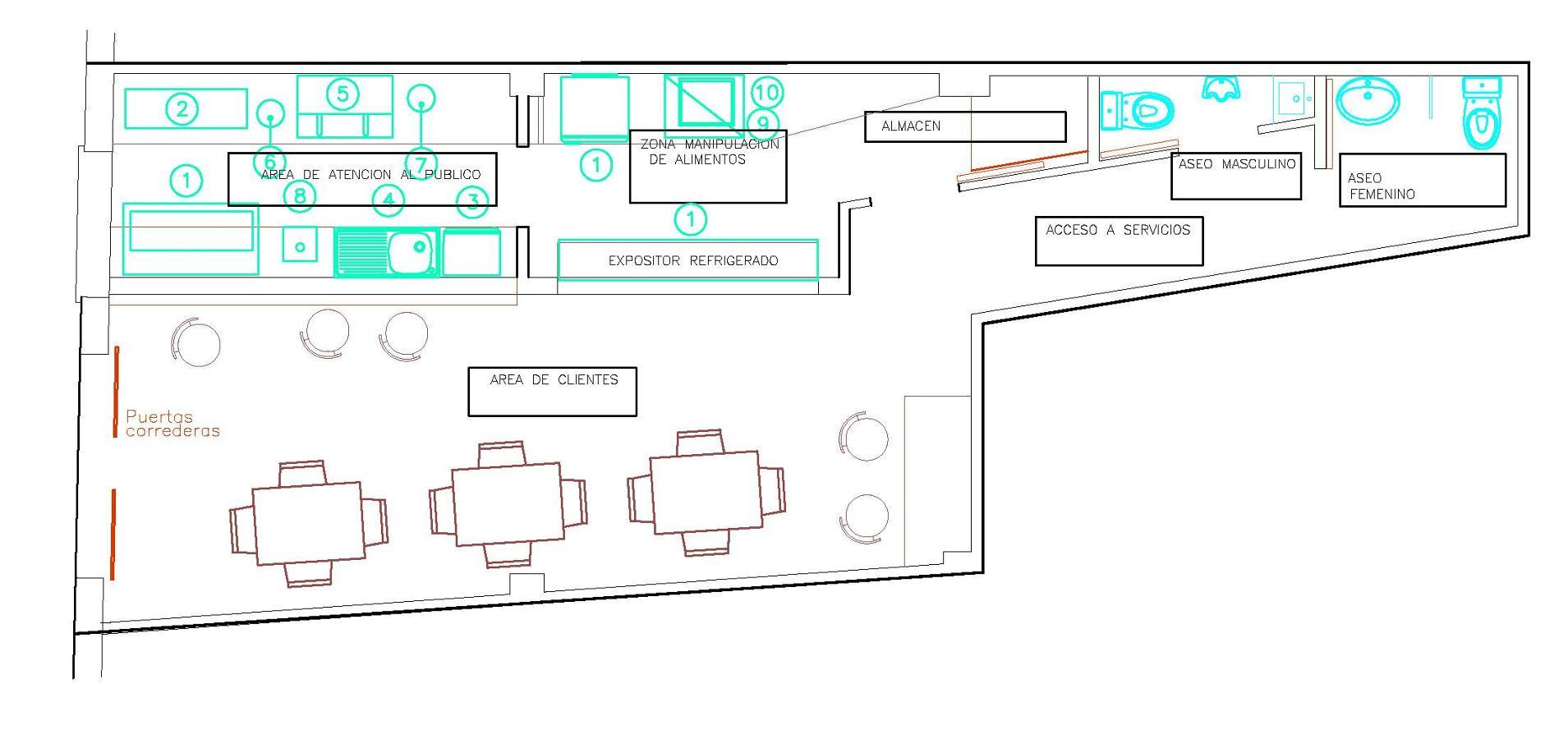 Proyecto de actividad cafe bar ideas arquitectos - Proyecto bar cafeteria ...