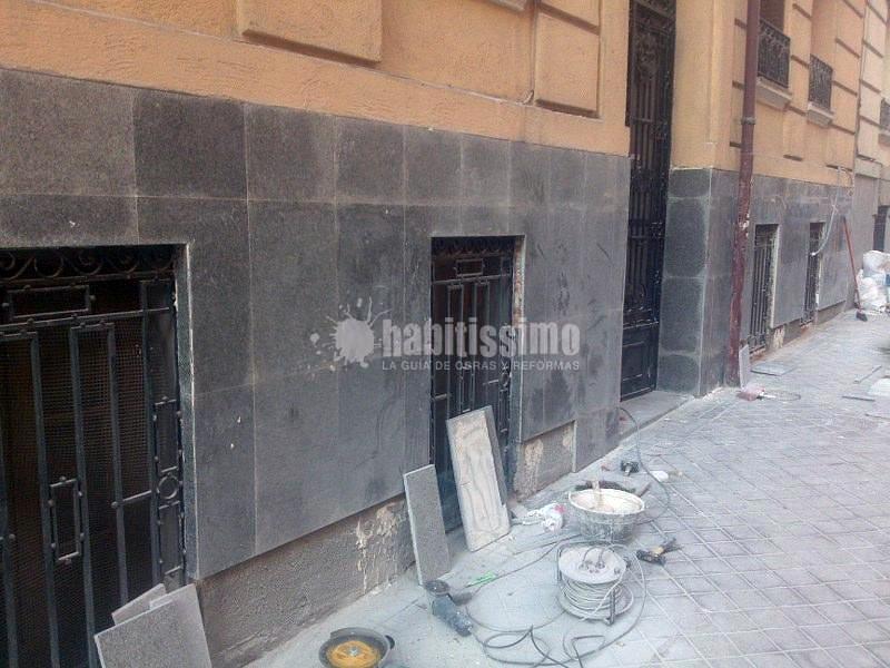 Rehabilitacion de fachada - portal