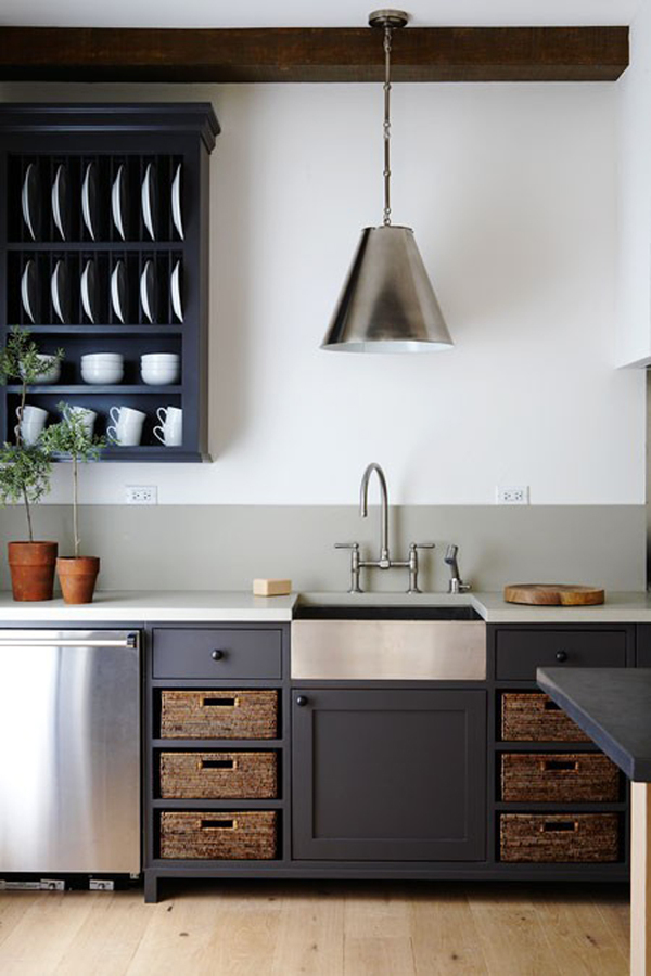 cocina con pintura lavable