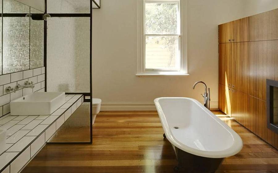 Baño En Ducha Procedimiento:suelos de Madera en el Baño? ¡sí!
