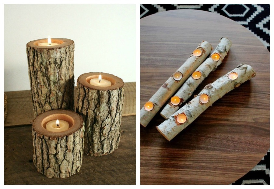 Decoraci n natural troncos y ramas en tu hogar ideas - Arboles de navidad artesanales ...