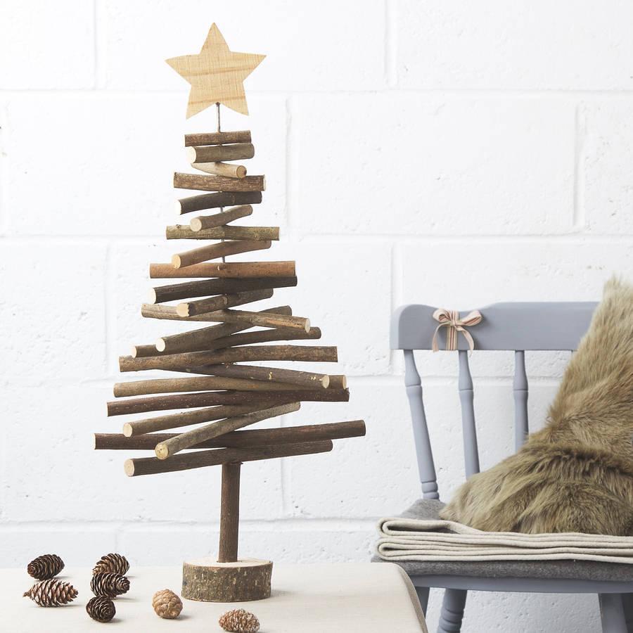 Wooden christmas yard decorations - Decoraci 243 N Natural Troncos Y Ramas En Tu Hogar Ideas Decoradores
