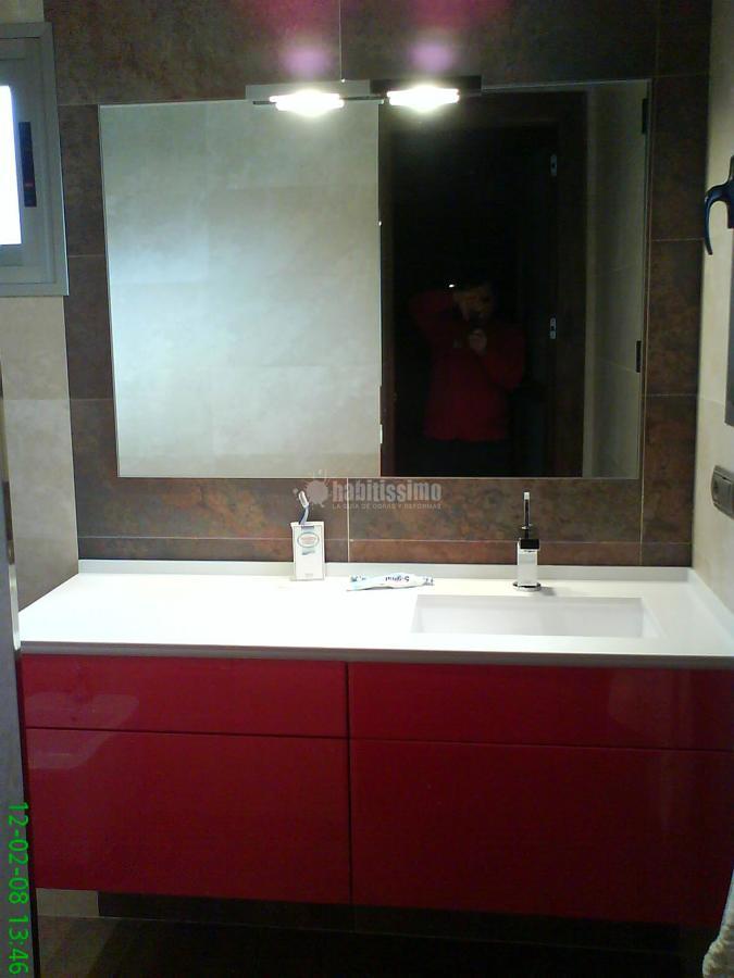 Baño cerasa mod-eden lacado rojo brillo