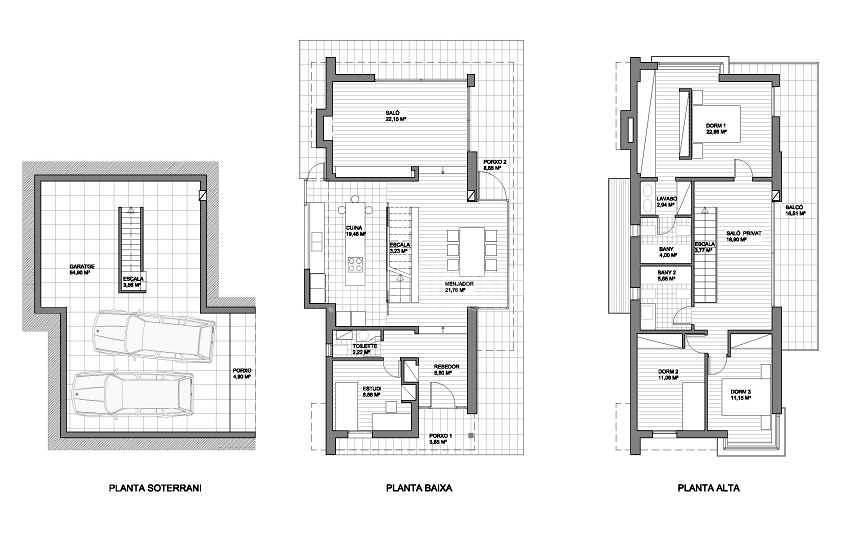 Foto vivienda unifamiliar aislada chalet de dise o de - Viviendas unifamiliares planos ...