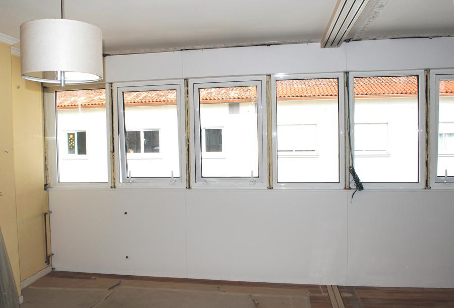 acabado panel lacado y ventanas con rotura punete termico