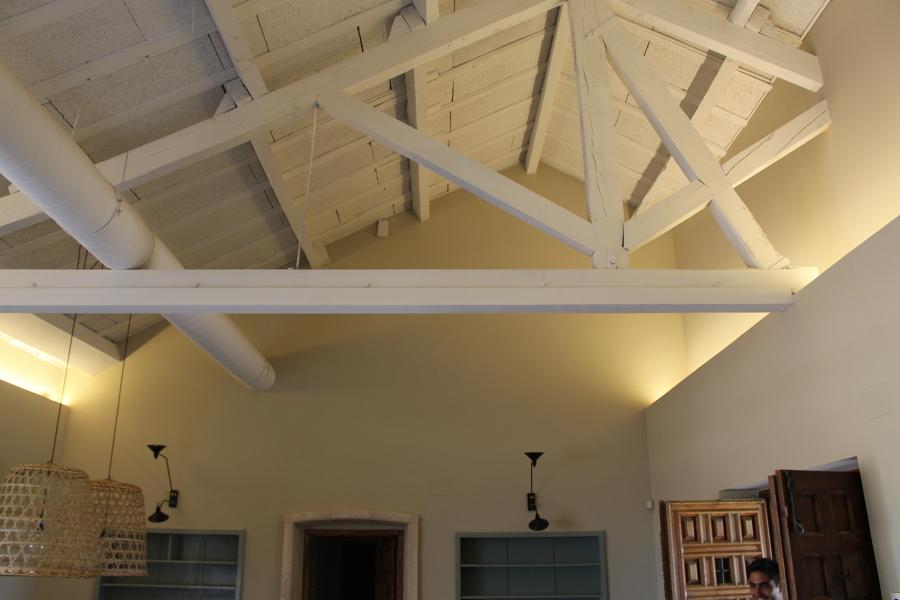 Acabado techo madera 2 - Finca El Oliva