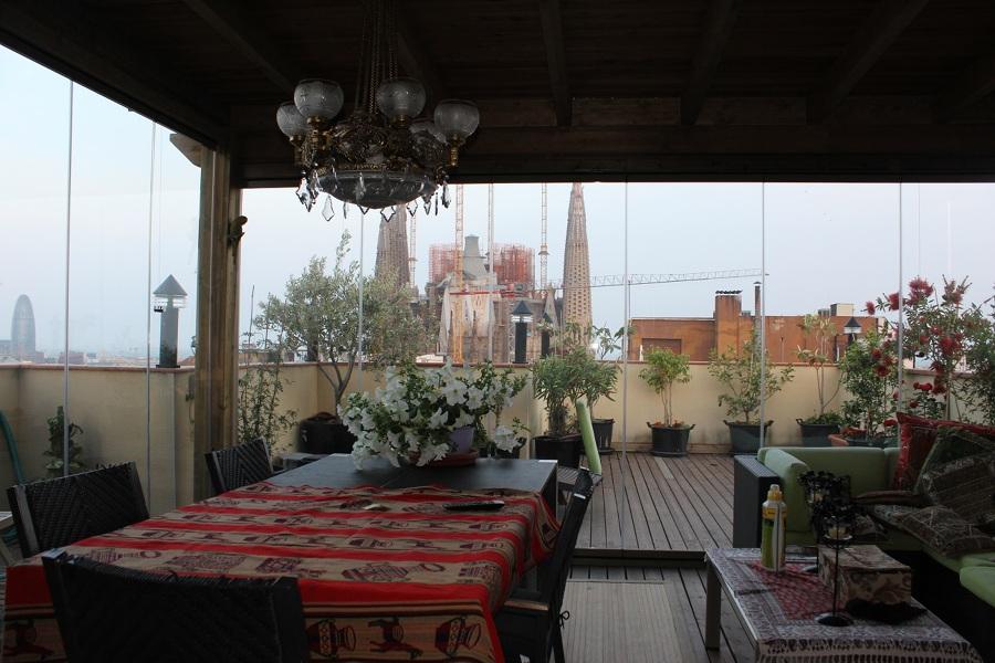 Acristalamiento con cortinas de cristal en Barcelona