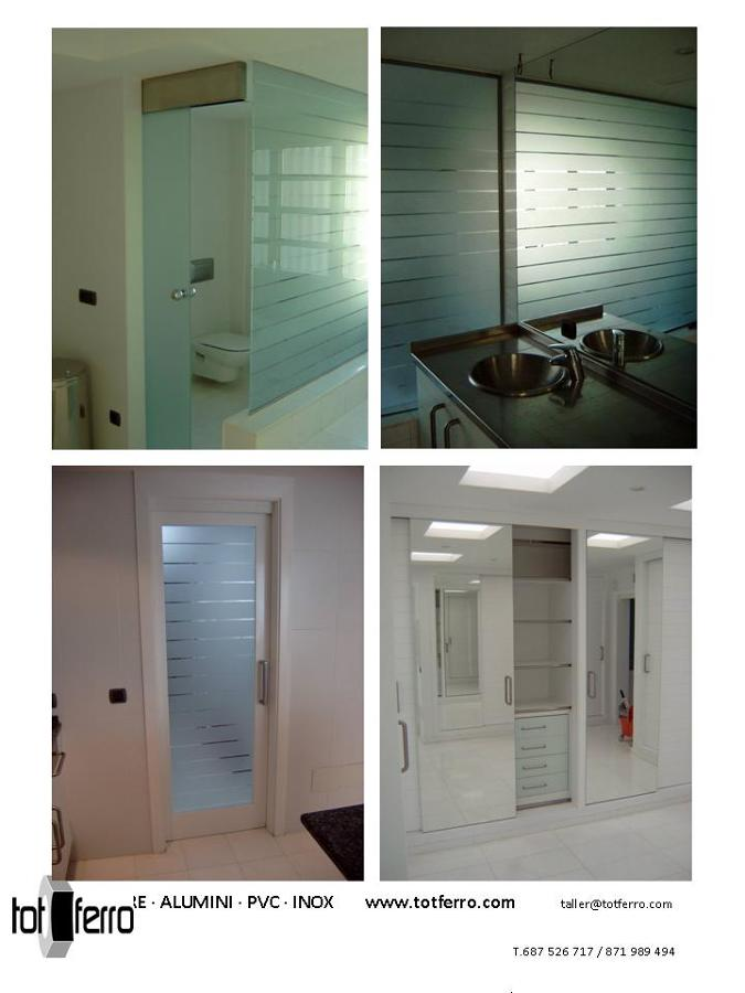 Acristalamiento puertas, armarios, baños