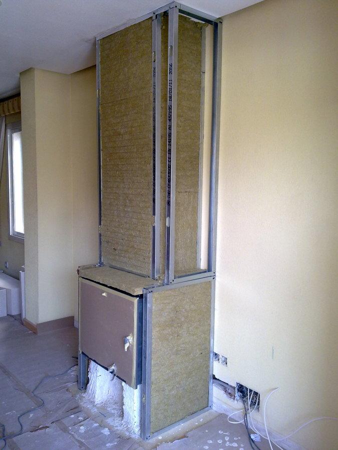 Foto adaptar mueble para integrar chimenea de global - Muebles pladur fotos ...
