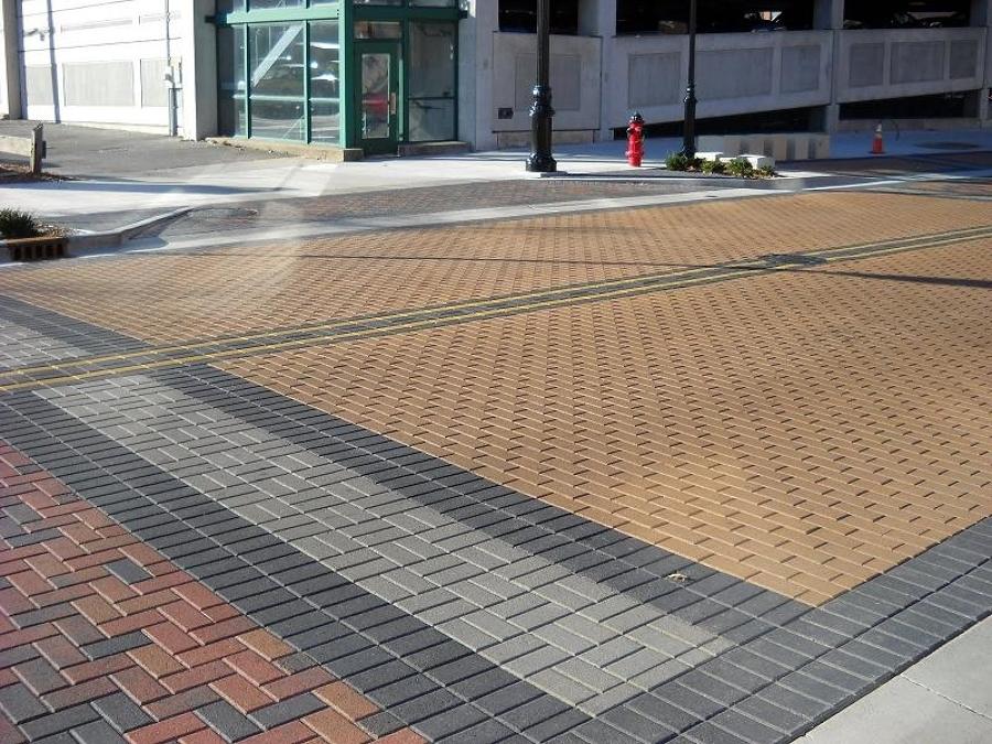 Adoquín en zona peatonal zona urbana