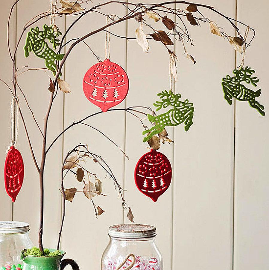 Crea un rbol de navidad nico con ramas secas ideas - Ramas de arbol para decoracion ...