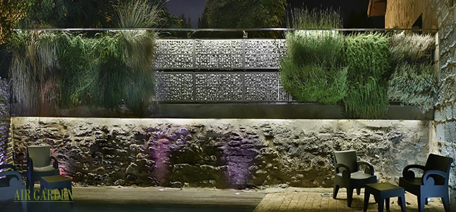 Foto: Air Garden i Jardín Vertical sobre Muro de Piedra de Air ...