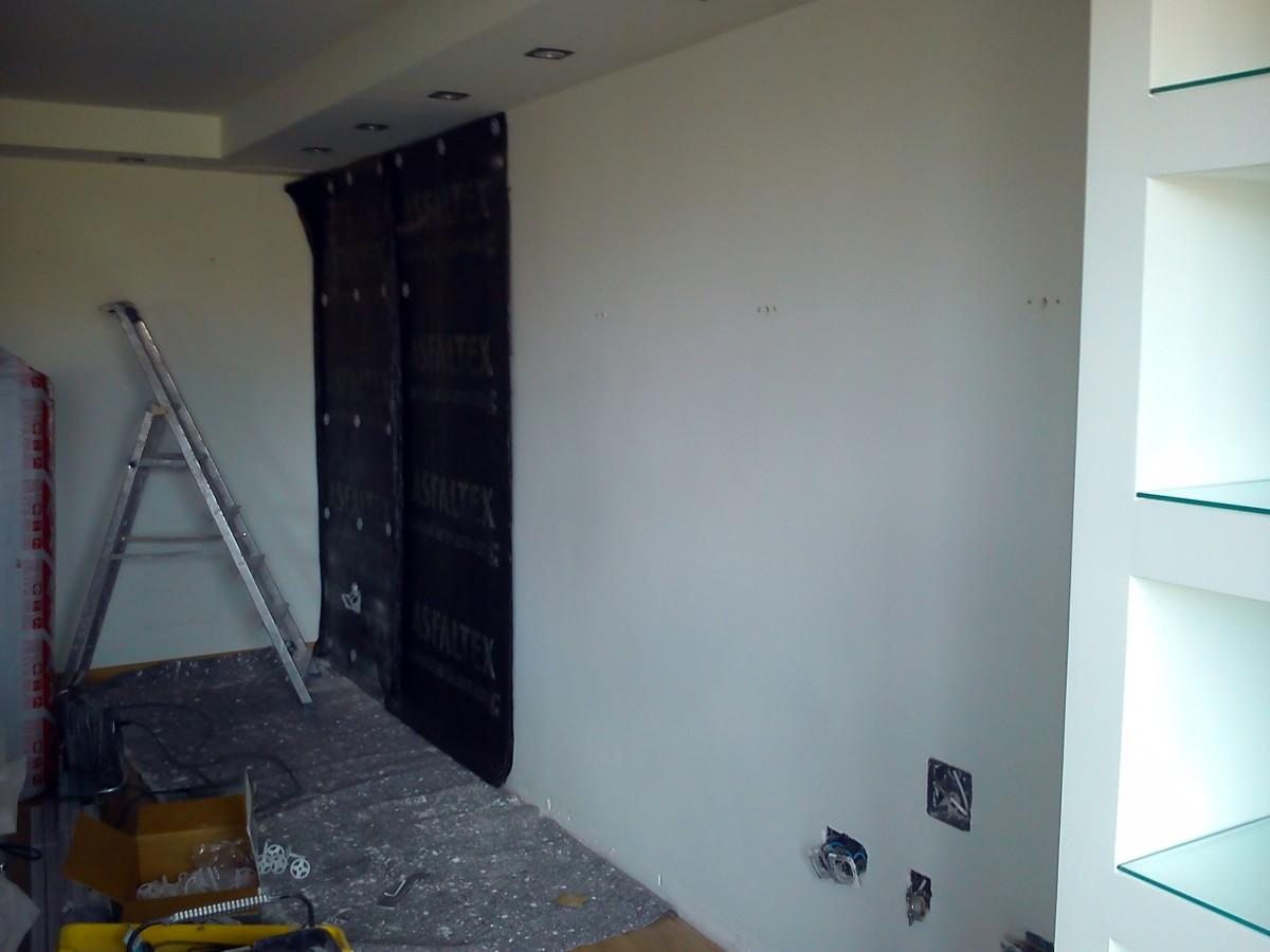 Insonorizacion acustica en pared tabica ideas insonorizaci n - Aislante acustico para paredes ...