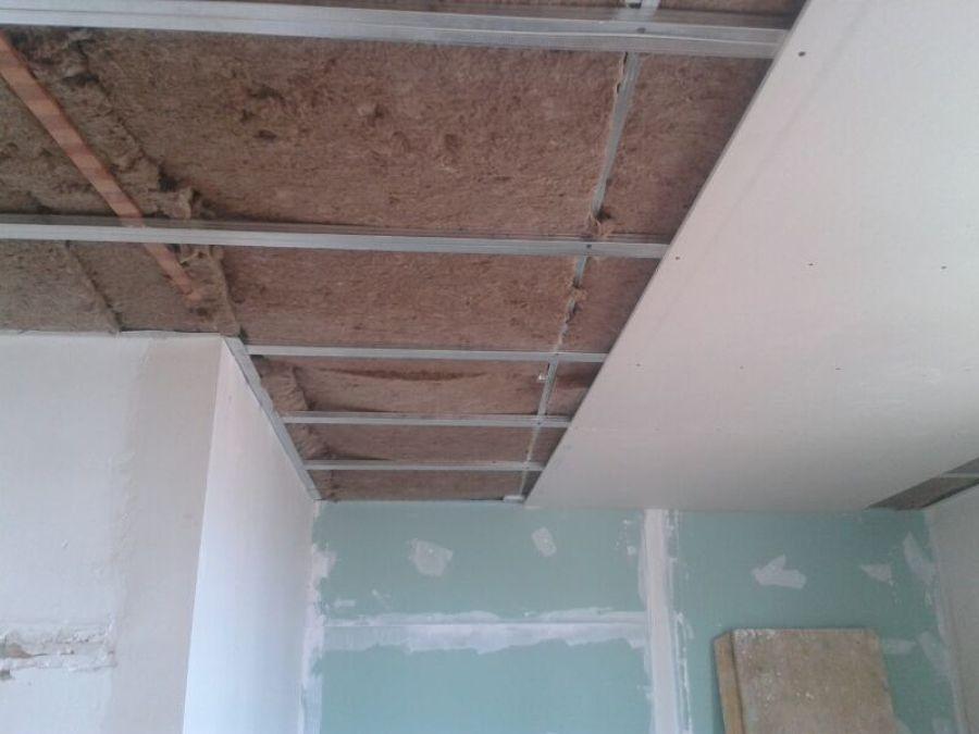foto aislamiento y montaje de pladur techo de henk