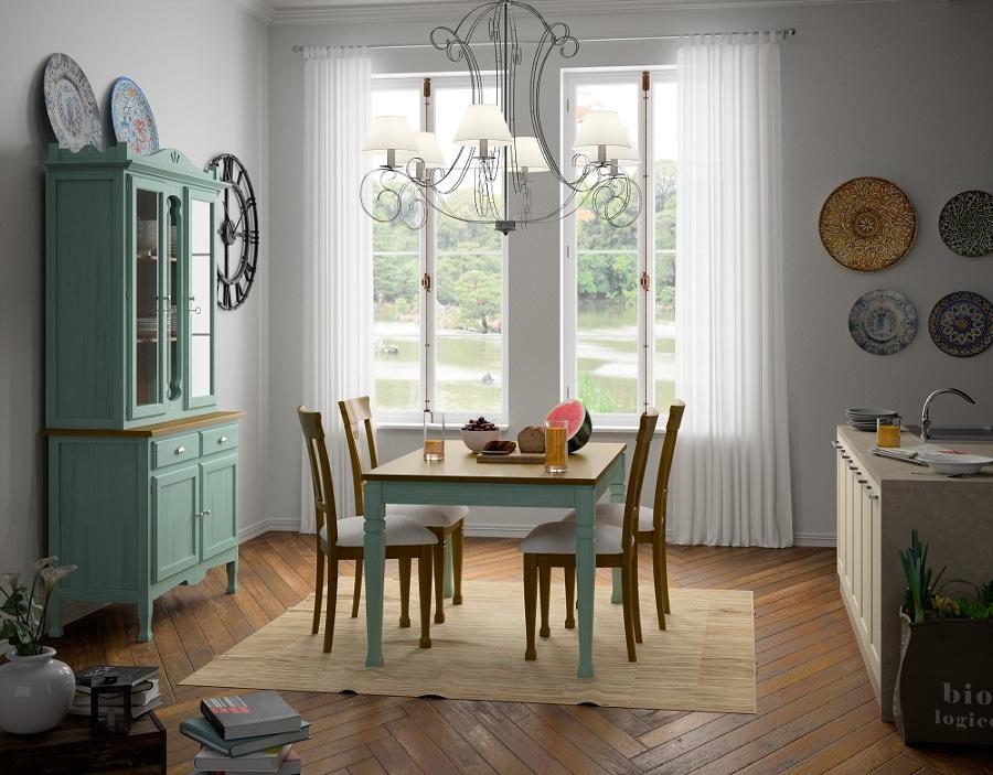 Alhacena, mesa y sillas.