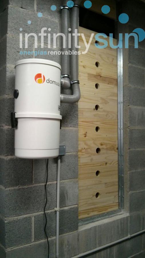 Alimentación automática de caldera de pellet