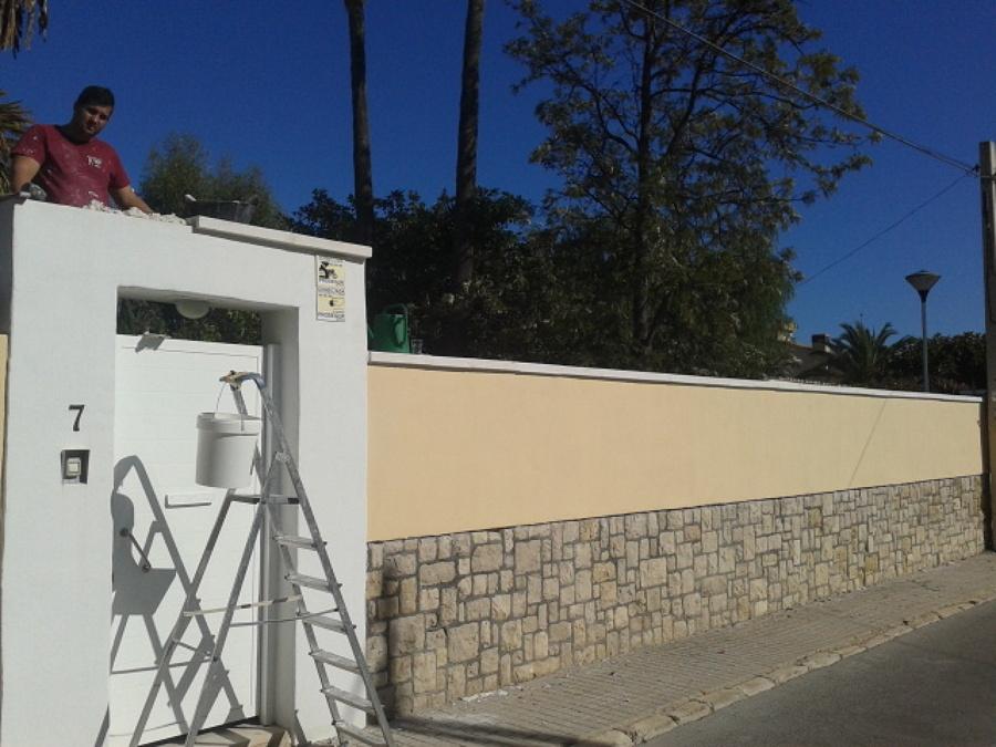 Alisar muro y entrada