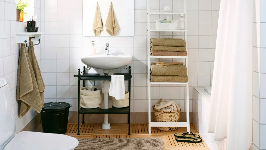 Almacenaje dentro del cuarto de baño