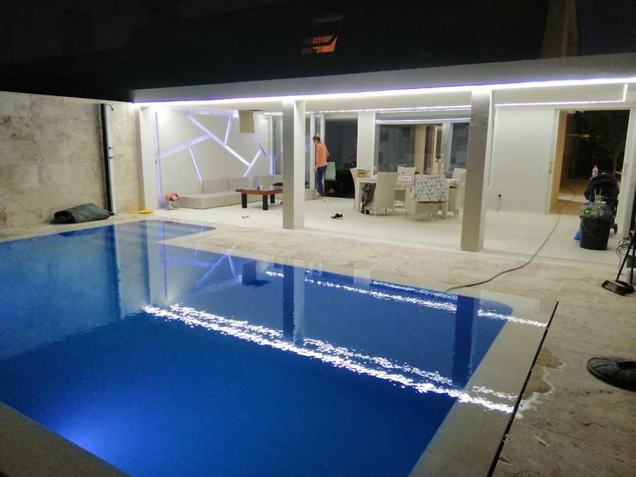 Alumbrado exterior piscina y terasa