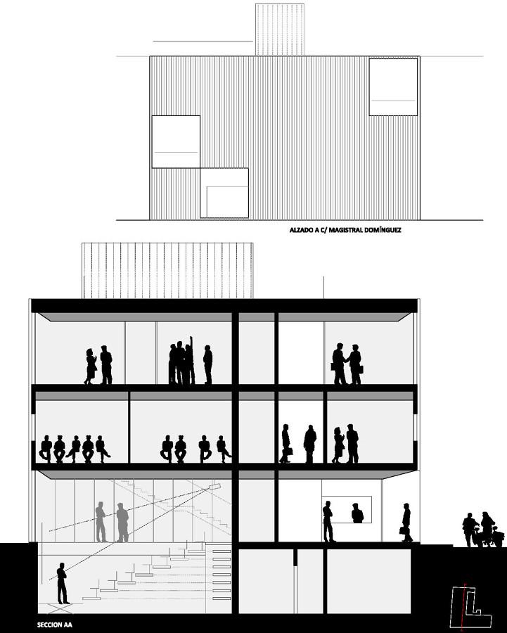 Centro de iniciativas empresariales ideas arquitectos - Alzado arquitectura ...