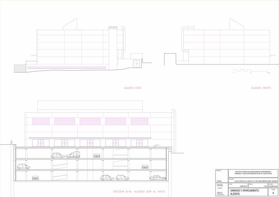 Aparcamiento y gimnasio en fuenlabrada ideas arquitectos for Gimnasio fuenlabrada