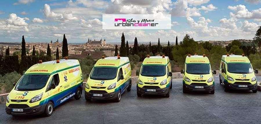 Ambulancias Finisterre apuesta por la Desinfección Acreditada de UrbanCleaner Toledo
