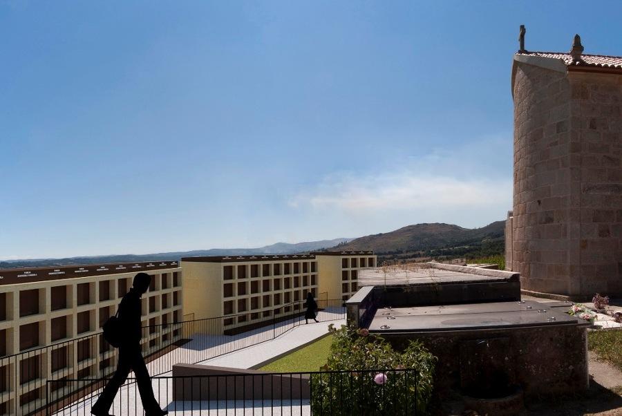 Ampliación de Cementerio en Cortegada, Silleda (Pontevedra). Vista 2