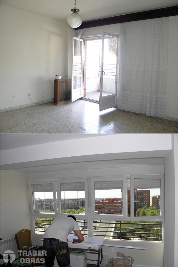 ampliación de salón con carpintería KÖMMERLING por Traber Obras.