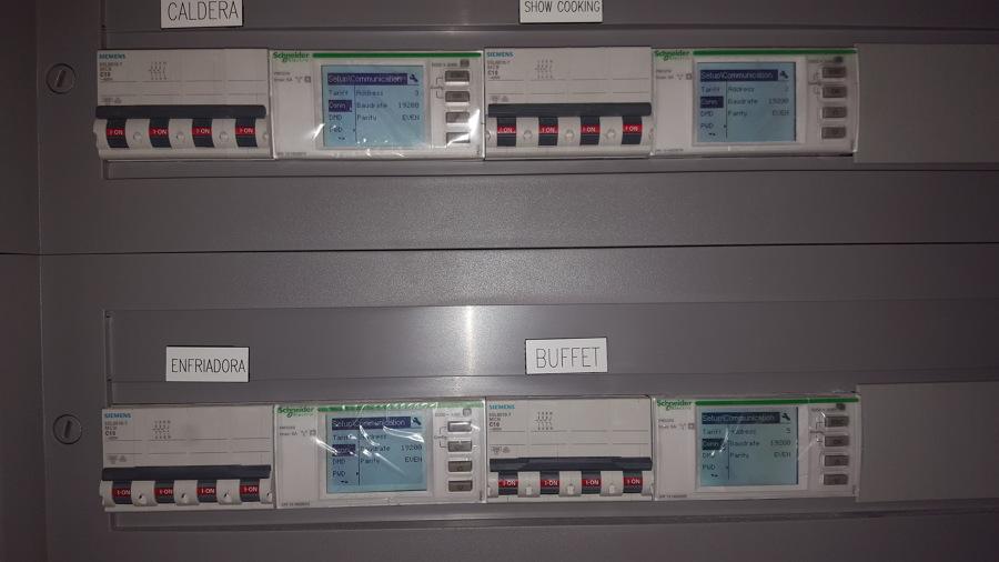 Analizadores integrados en cuadro eléctrico