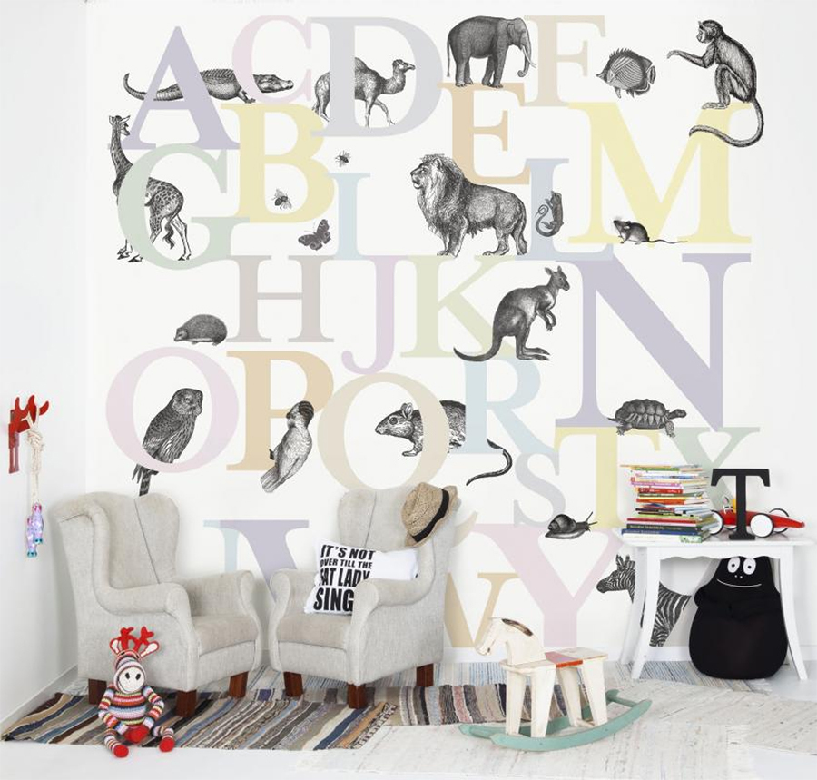 animales mural