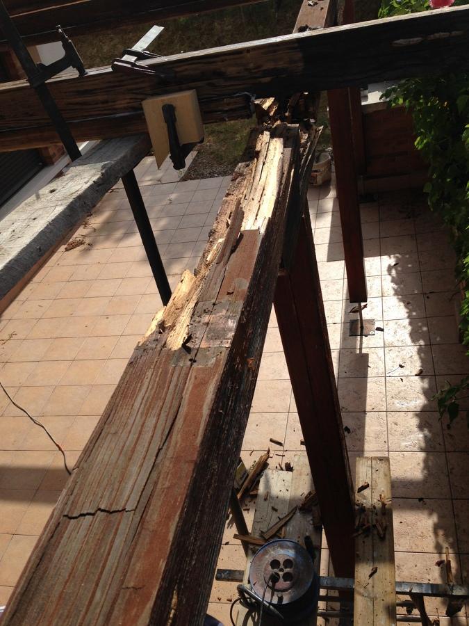 antes de cambiar las vigas de madera