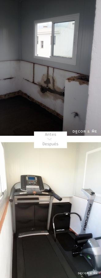 ANTES/DESPUÉS DEL PEQUEÑO GIMNASIO