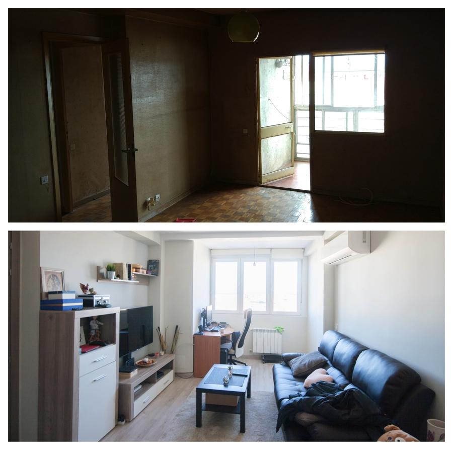 Antes/Después terraza y salón