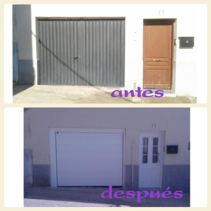 Cambie el aspecto de su casa ideas puertas garaje - Pintar puerta galvanizada ...
