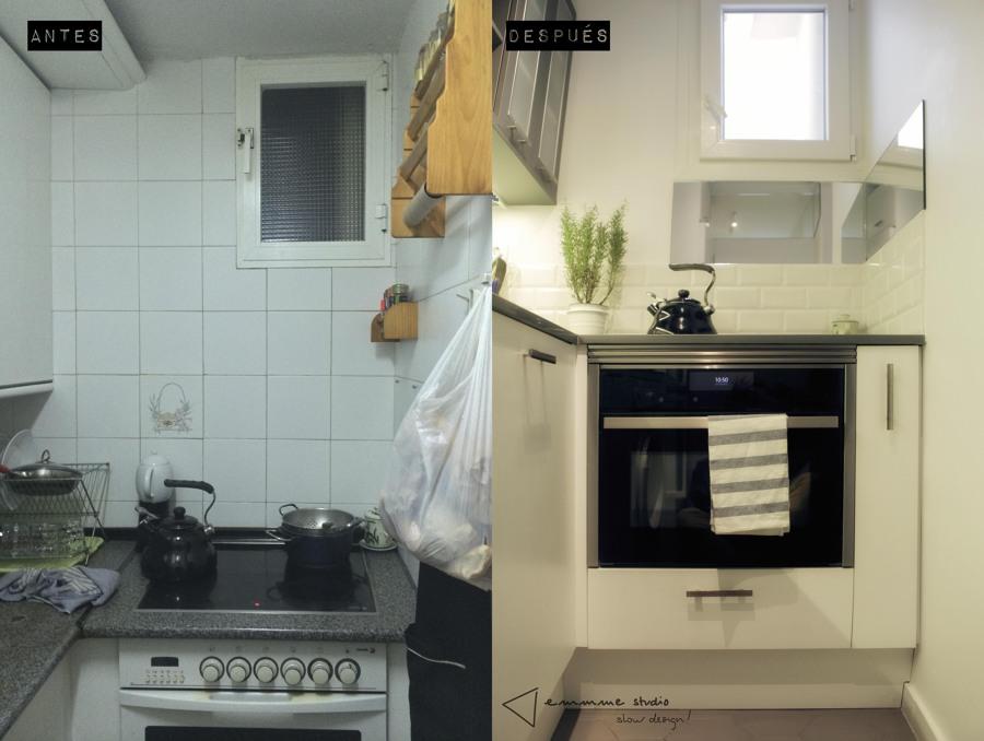 La cocina de Ana y Paul por emmme studio: Antes y después