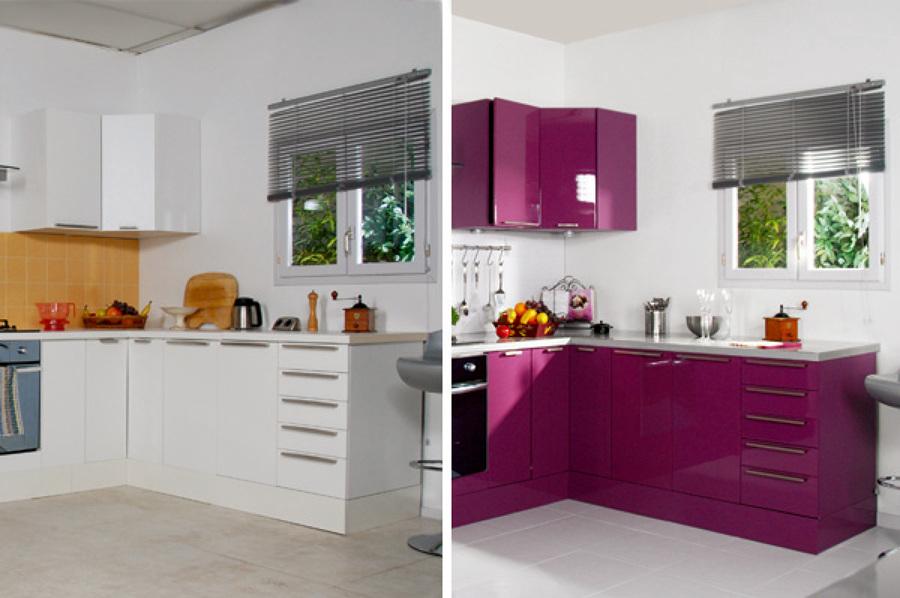 Cambios de color de cocina ideas pintores - Pintar azulejos cocina antes y despues ...
