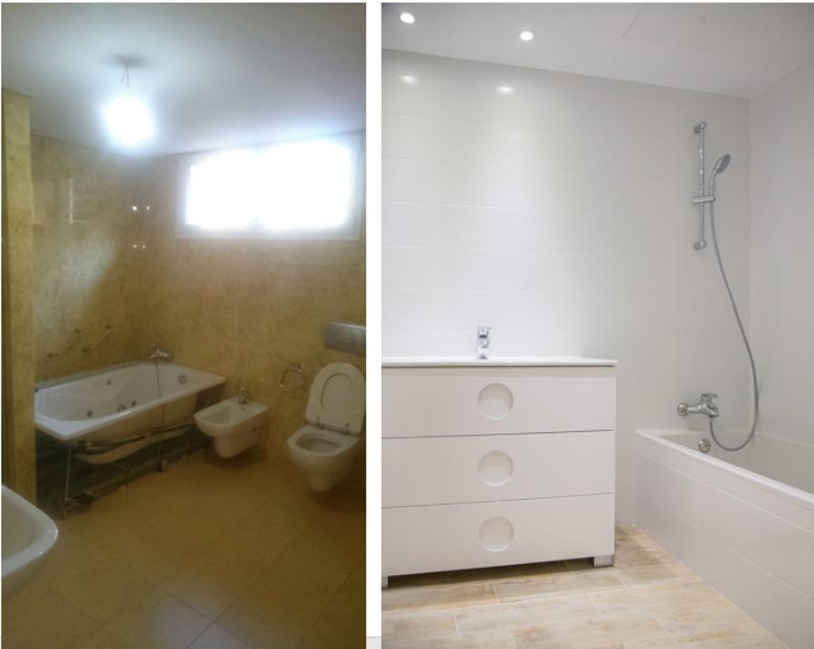 Antes y despues del cuarto de baño