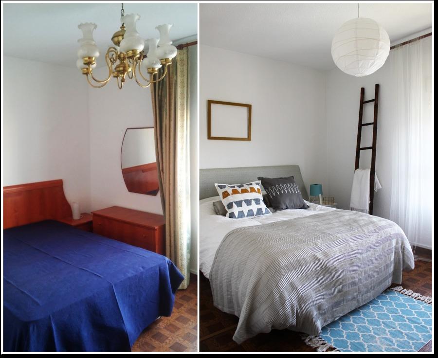 Antes y después dormitorio principal