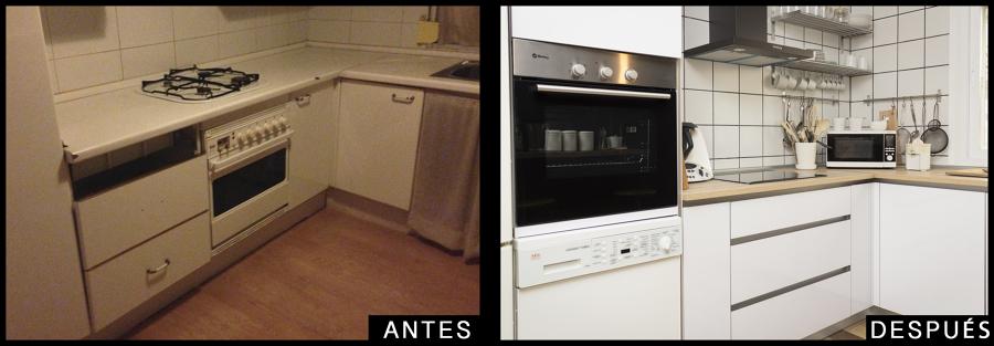 Antes y después en cocina