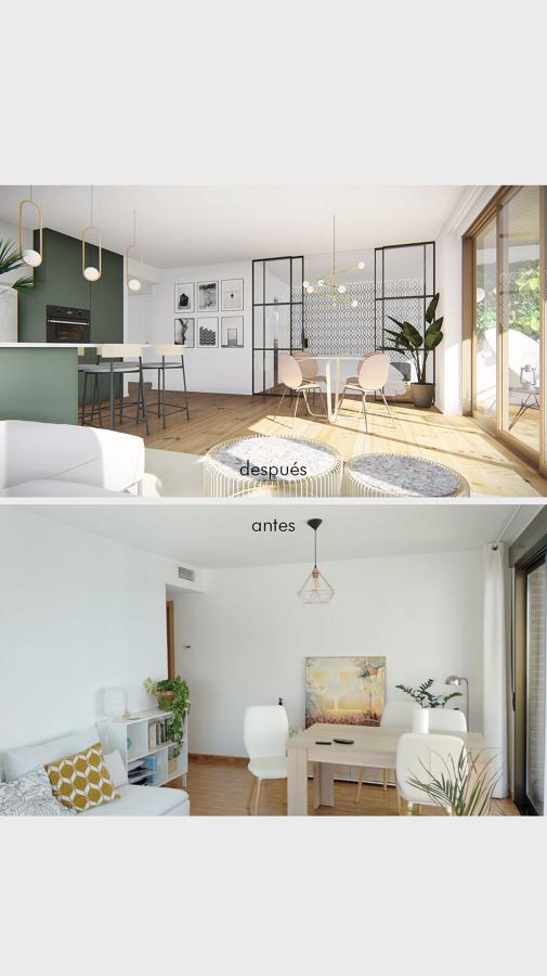 Antes y después: salón
