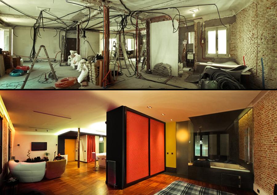 Antes y después.
